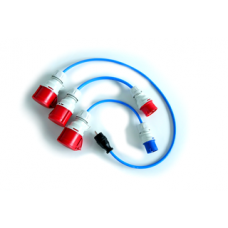 Adapterset CEE 16a (Red & Blue) multiple domestic plugs