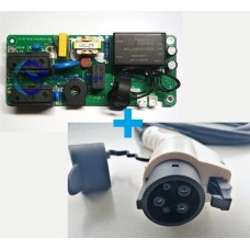 16A 3.7kW EV charging controller board + Type 1 EV charging cable and plug bundle